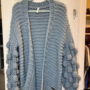 NWOT Vici Collection Chunky Hand Knit Cardigan M/L